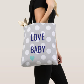 BABY & CO Polka Dots Baby Toys Shower Tote Bag