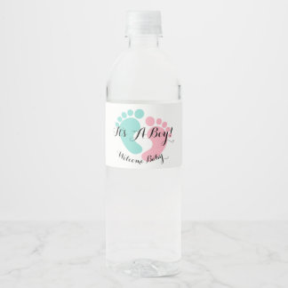 BABY & CO Tiny Footprints Water Bottle Labels