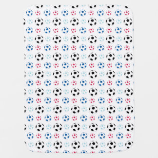 Baby colorful soccer ball blanket