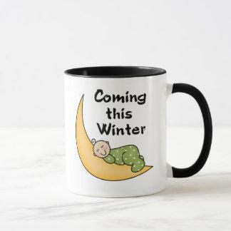 Baby Coming This Winter Mug
