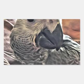 Baby Congo African Grey Parrot Sticker