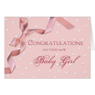 Baby Congratulations - Baby Girl Card