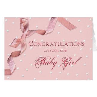 Baby Congratulations - Baby Girl Greeting Card