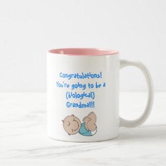 baby, Congratulations!You're going to be a (bio... Two-Tone Coffee Mug