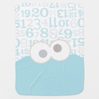 Baby Cookie Monster Face Baby Blanket