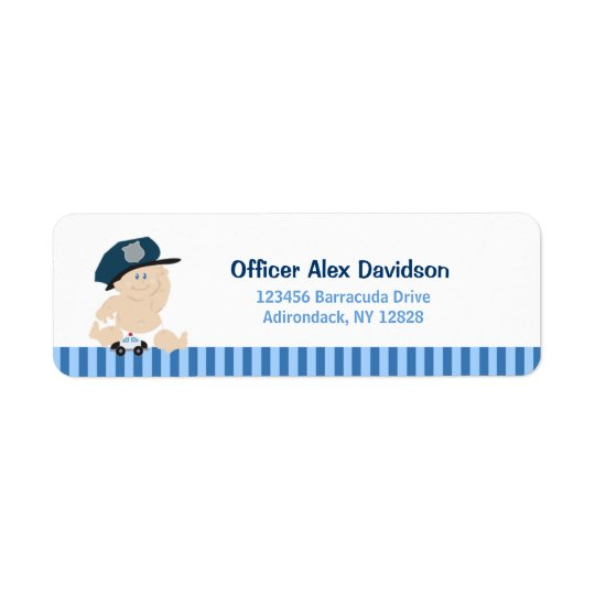 Baby Cop Police Officer Return Labels