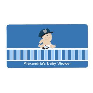 Baby Cop Police Officer Water bottle sticker