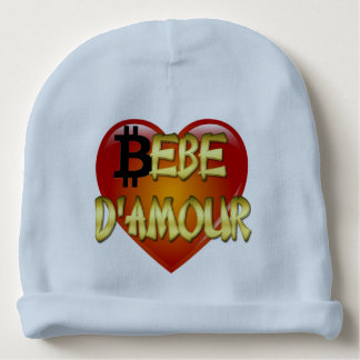 "Baby Cotton Beanie – French Quote ""Bebe d'Amour"" Baby Beanie"