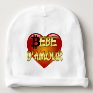 Baby Cotton Beanie – French Quote – Bebe D'amour Baby Beanie