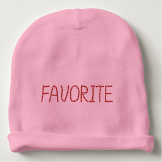 Baby cotton beanie with 'favorite' baby beanie