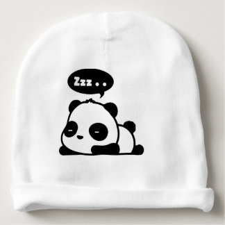 baby cotton beenie with cut sleepy panda baby beanie