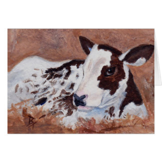 Baby Cow Blank Card