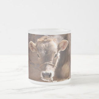 Baby Cow - Brown Baby Calf Close Up Face Coffee Mug
