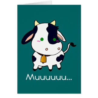 Baby Cow Greeting Card