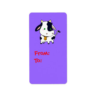 Baby Cow Personalized Address Labels