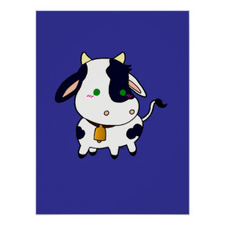 Baby Cow Poster