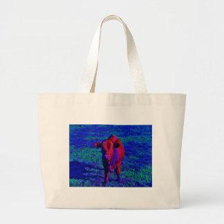 Baby Cow Purple grass Bag