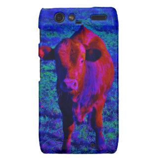 Baby Cow Purple grass Droid RAZR Cover