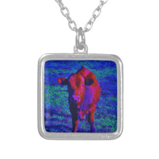 Baby Cow Purple grass Necklace