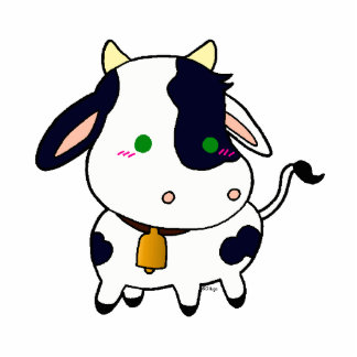 Baby Cow Standing Photo Sculpture