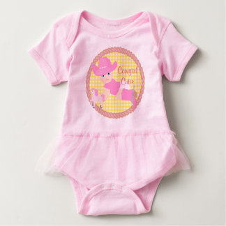 Baby Cowgirl Pink Hat Boots and Horse Tutu Baby Bodysuit