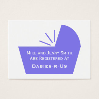 Baby Crib Icon Business Card
