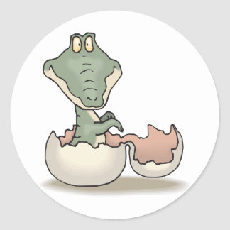 Baby Crocodile Classic Round Sticker