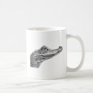 Baby Crocodile Ink Drawing Coffee Mug