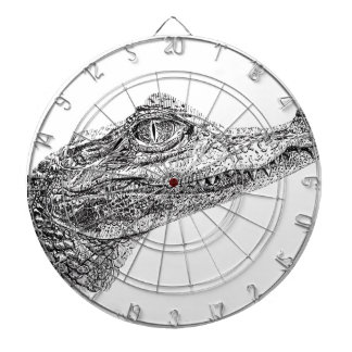Baby Crocodile Ink Drawing Dartboard