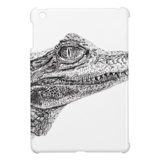 Baby Crocodile Ink Drawing iPad Mini Covers