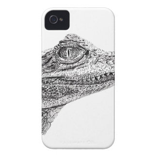 Baby Crocodile Ink Drawing iPhone 4 Case