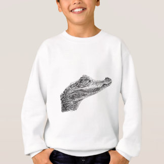 Baby Crocodile Ink Drawing Sweatshirt