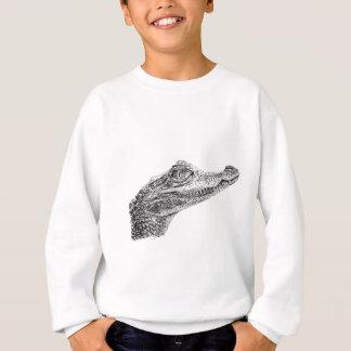 Baby Crocodile Ink Drawing Sweatshirt