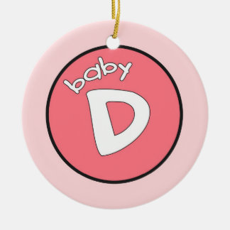 """Baby D"" Personalized Ornament for Quadruplets"