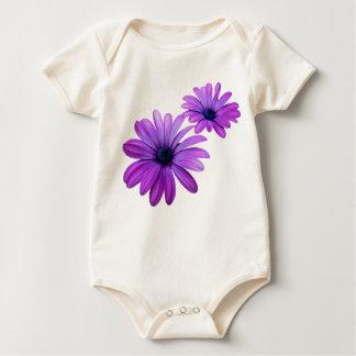 Baby Daisy Creeper Organic Purple Flower Baby Top