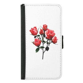 Baby Dark Pink Roses Samsung Galaxy S5 Wallet Case