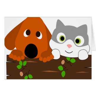 baby decoration cat dog stuff card