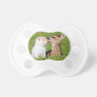 Baby Deer and Kitten Cuddle Pacifier
