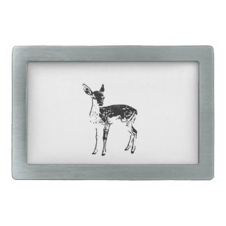 Baby Deer - Fawn Rectangular Belt Buckles