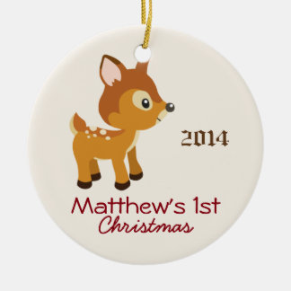 Baby Deer First Christmas Ornament