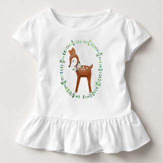 Baby Deer T-shirt Cute Deer T-shirt for Baby Girl