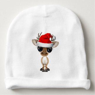 Baby Deer Wearing a Santa Hat Baby Beanie