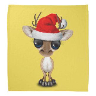 Baby Deer Wearing a Santa Hat Bandana