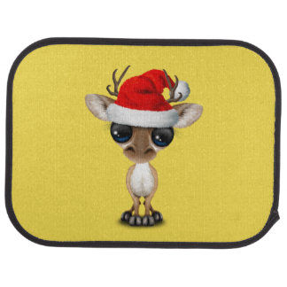 Baby Deer Wearing a Santa Hat Car Mat