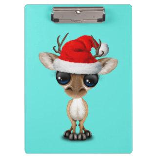 Baby Deer Wearing a Santa Hat Clipboard