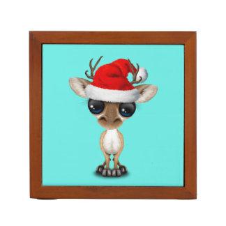 Baby Deer Wearing a Santa Hat Desk Organizer