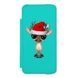 Baby Deer Wearing a Santa Hat Incipio Watson™ iPhone 5 Wallet Case