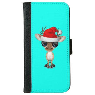 Baby Deer Wearing a Santa Hat iPhone 6 Wallet Case
