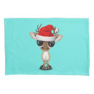 Baby Deer Wearing a Santa Hat Pillowcase