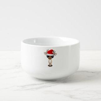 Baby Deer Wearing a Santa Hat Soup Mug